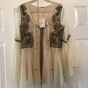 NWT Free People Poet Blouse/Tunic (Size S)